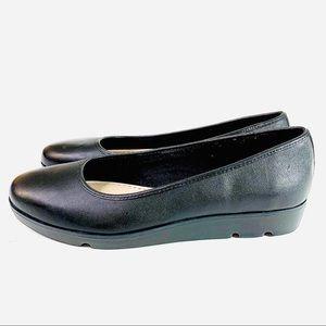 Clark's Evie Buzz Leather Black Noir Size 10M